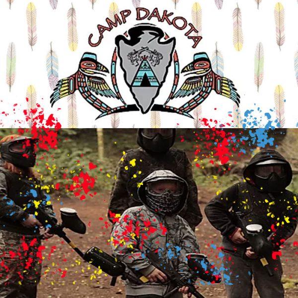 Camp dakota paintball party for 6