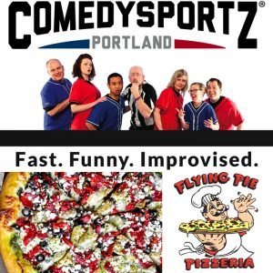 comedy sports z flying pizza