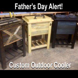 wooden custom cooler