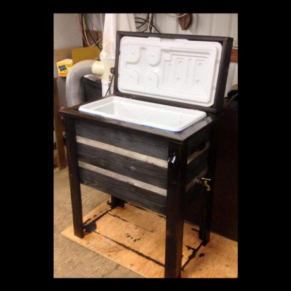 wooden cooler inside